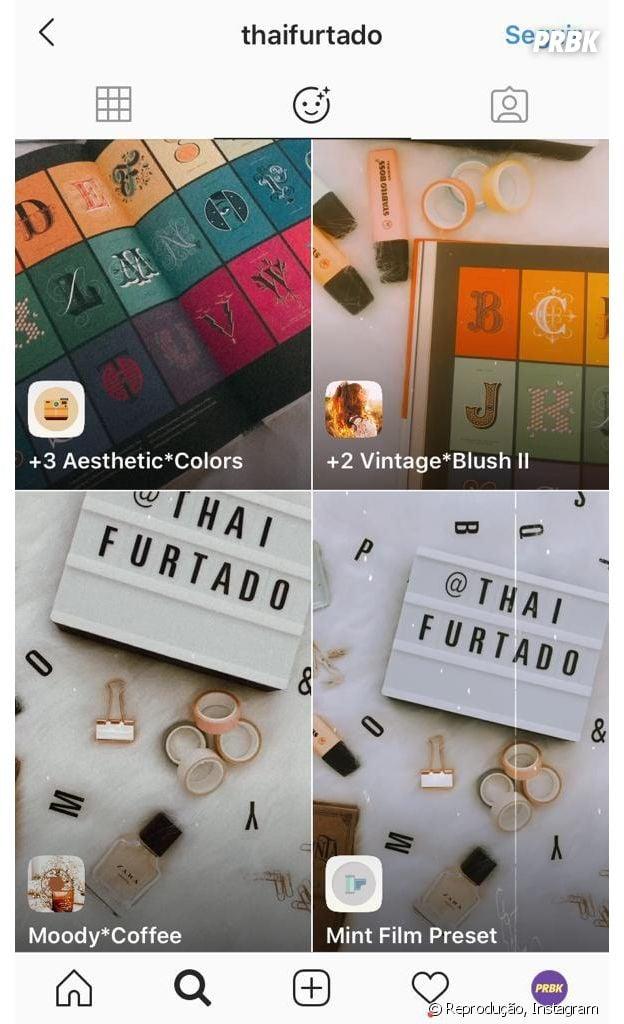 Instagram: @thaifurtado e mais perfis que você deve seguir para encontrar novos filtros