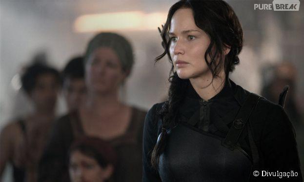 """""""Jogos Vorazes: A Esperança - Parte 1"""" conta com Jennifer Lawrence no elenco e já estreou dominando as telonas"""