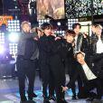 BTS posa na Times Square na véspera de ano novo de 2020