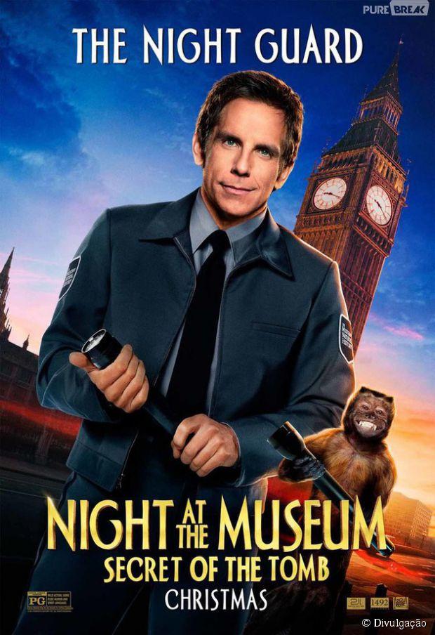 """""""Uma Noite no Museu 3"""", com Ben Stiller, ganhou novos cartazes"""