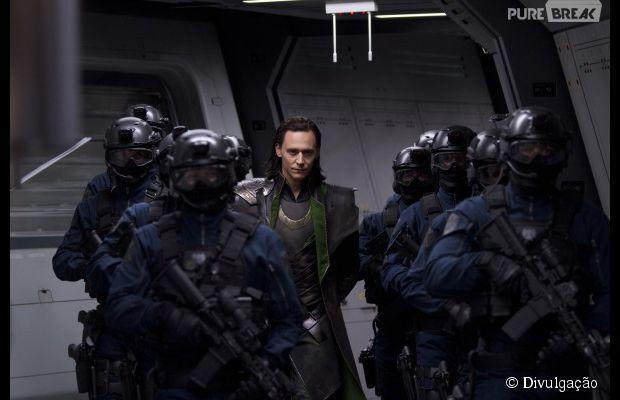 """Tom Hiddleston interpreta o Loki na franquia """"Os Vingadores"""""""