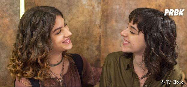 """Samantha (Giovanna Grigio) e Lica (Manoela Aliperti) em """"Malhação - Viva a Diferença"""""""