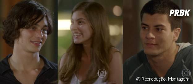 """Em """"Malhação"""", Bianca (Bruna Hamú) vai ficar dividida entre Henrique (Michel Joelsas) e Duca (Arthur Aguiar) daqui pra frente"""