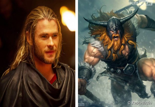 "Chris Hermesworth só iria deixar o personagem Olaf de ""League Of Legends"" mais gato"