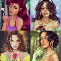 De Ariana Grande a Millie Bobby Brown, artista transforma famosos em personagens da Disney