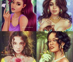 Artista transforma Ariana Grande e outros artistas em personagens da Disney