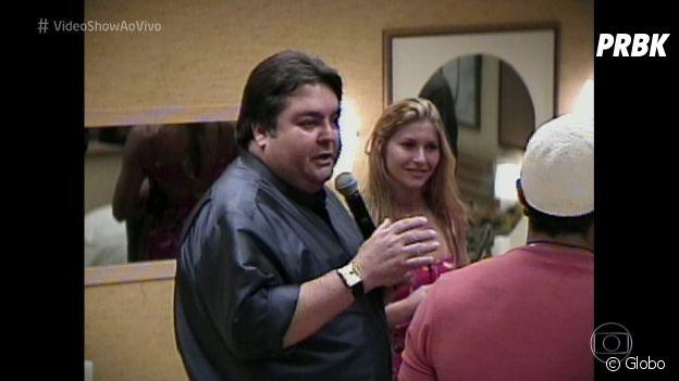 """Faustão visita o """"Big Brother Brasil"""" na primeira edição do reality"""