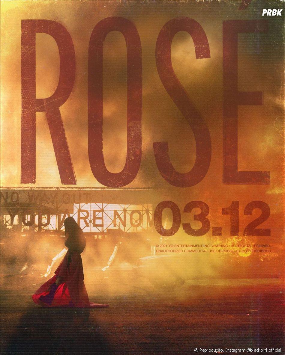 BLACKPINK divulga pôster cinematográfico para o lançamento solo da Rosé
