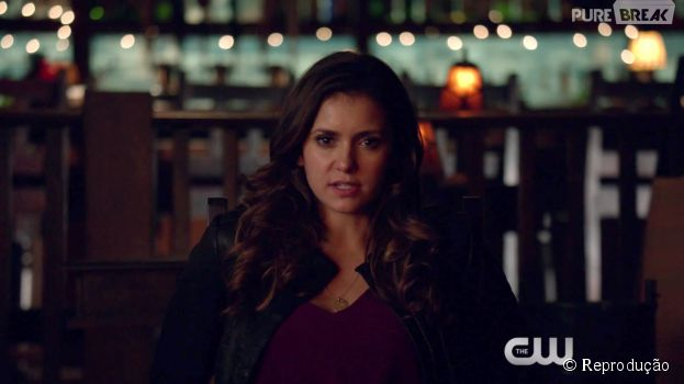 "Em ""The Vampire Diaries"", Elena (Nina Dobrev) foi sequestrada por Kai (Chris Wood)"