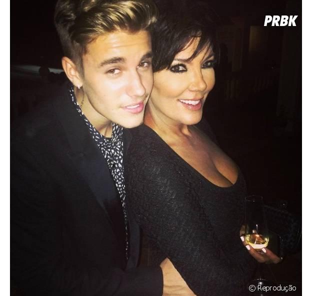 Justin Bieber e Kriss Jenner, mãe de Kendall Jenner