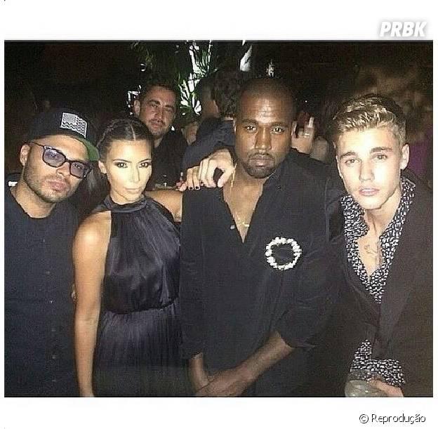 Justin Bieber, Kim Kardashian e Kanye West