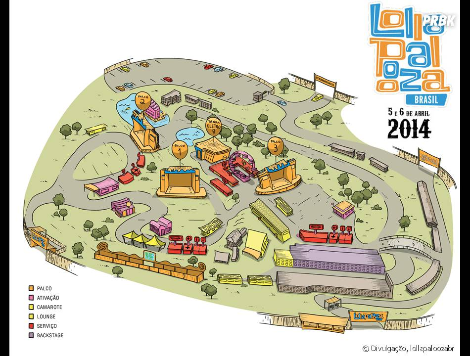 O Lollapalooza Brasil contará com espaço de 600 mil metros