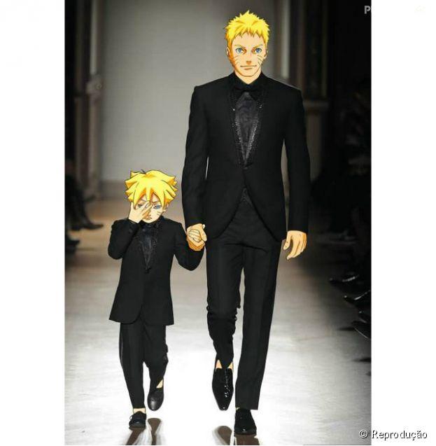 Naruto e seu filho aparecem usando Chanel!