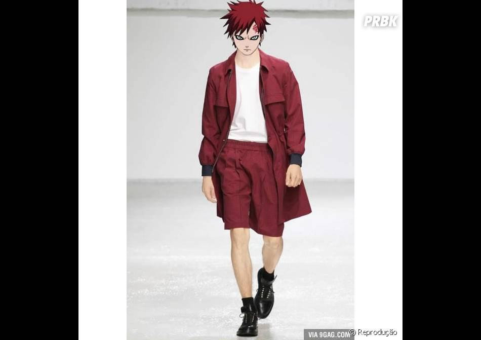 """Como em """"Naruto"""", Gaara está com visual vermelho"""