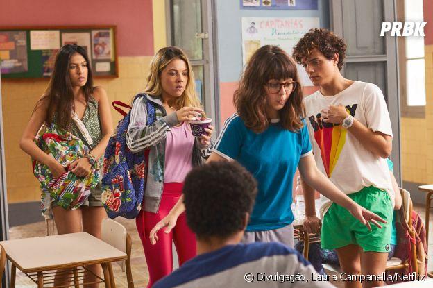 """""""Confissões de Uma Garota Excluída"""": Valentina (Júlia Gomes) e Laís (Fernanda Concon) vão dificultar a vida de Tetê (Klara Castanho)"""
