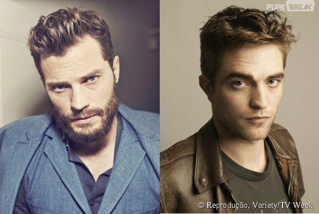 "Jamie Dornan (""Cinquenta Tons de Cinza"") e Robert Pattinson"