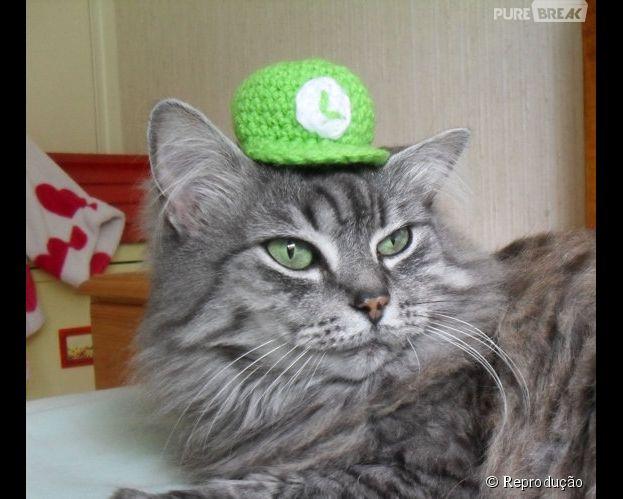 """<p>Luiggi de """"Super Mario"""" está discreto: a fantasia é só um chapéuzinho e já tá bom</p>"""