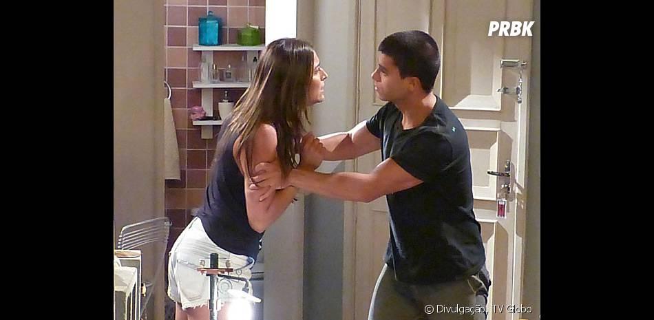 """Em """"Malhação"""", Nat (Maria Joana) discute com Duca (Arthur Aguiar)"""