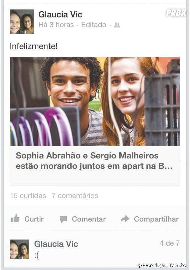 Mãe de Sérgio Malheiros odeia namoro do filho com Sophia Abrahão