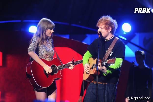 Ed Sheeran e Taylor Swift colecionam diversos duetos e singles ainda não lançados