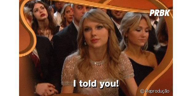 Taylor Swift comenta premiação com o astro Ed Sheeran