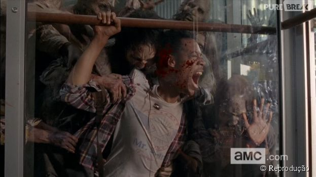 "Noah (Tyler James Williams) morreu brutalmente em ""The Walking Dead"""