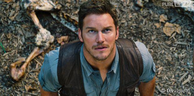 """Chris Pratt, de """"Guardiões da Galáxia"""", é o protagonista de """"Jurassic World"""""""
