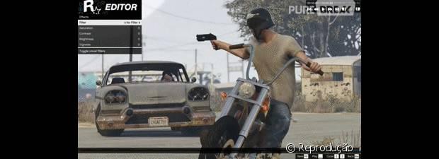 """O jogador também poderá escolher o ângulo no qual a cena será gravada em """"GTA V"""""""