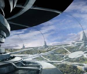 """Arquitetura de uma das citadelas de """"Mass Effect 4"""" em uma arte de conceito"""