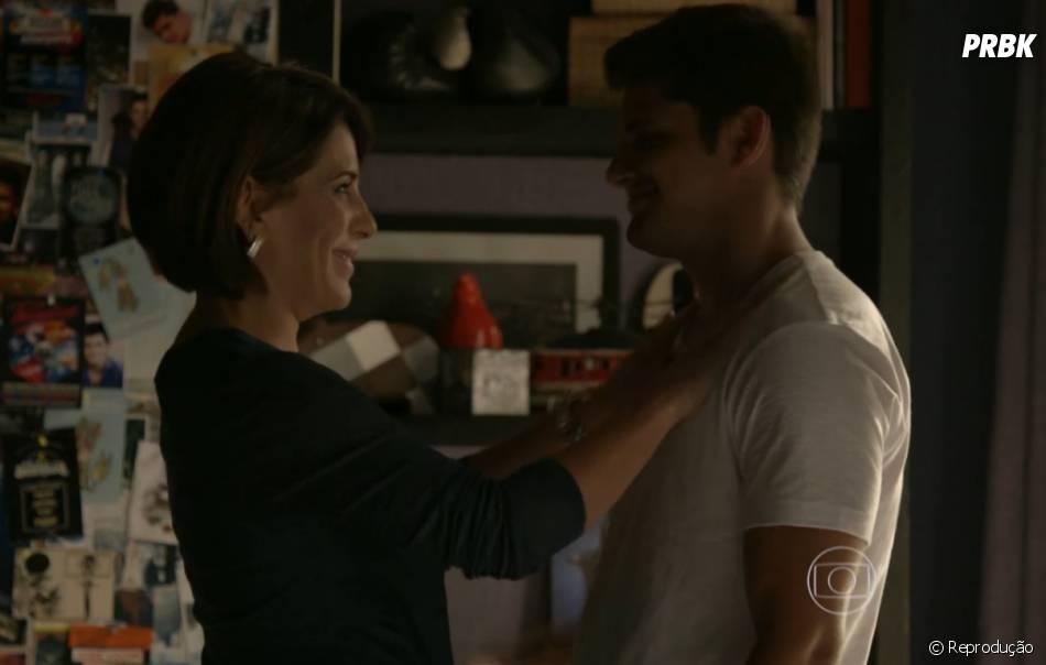 """Beatriz (Glória Pires) vive defendendo Guto (Bruno Gissoni) em """"Babilônia"""""""