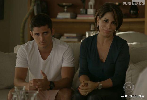 """Em """"Babilônia"""", Beatriz (Glória Pires) vai ajudar Guto (Bruno Gissoni) a conquistar Laís (Luísa Arraes)"""