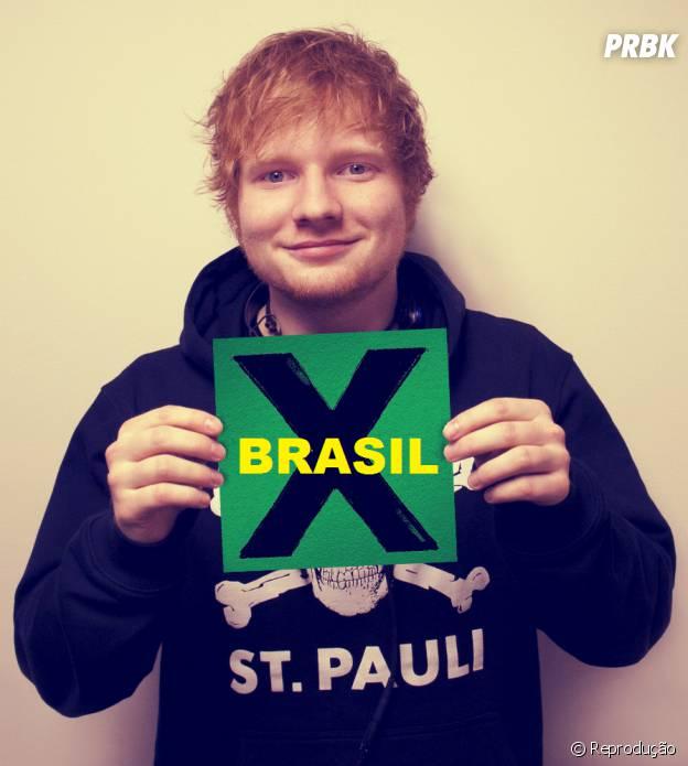 """Ed Sheeran faz show pela primeira vez no Brasil com a turnê """"Multiply"""""""