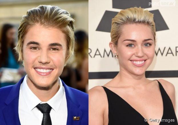 Vamos admitir, depois do novo corte de cabelo, Miley Cyrus e Justin Bieber ficaram parecidos!