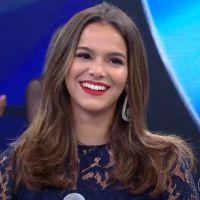 """Bruna Marquezine participa do """"Domingão do Faustão"""" e revela desejo de ser mãe: """"Meu maior sonho"""""""