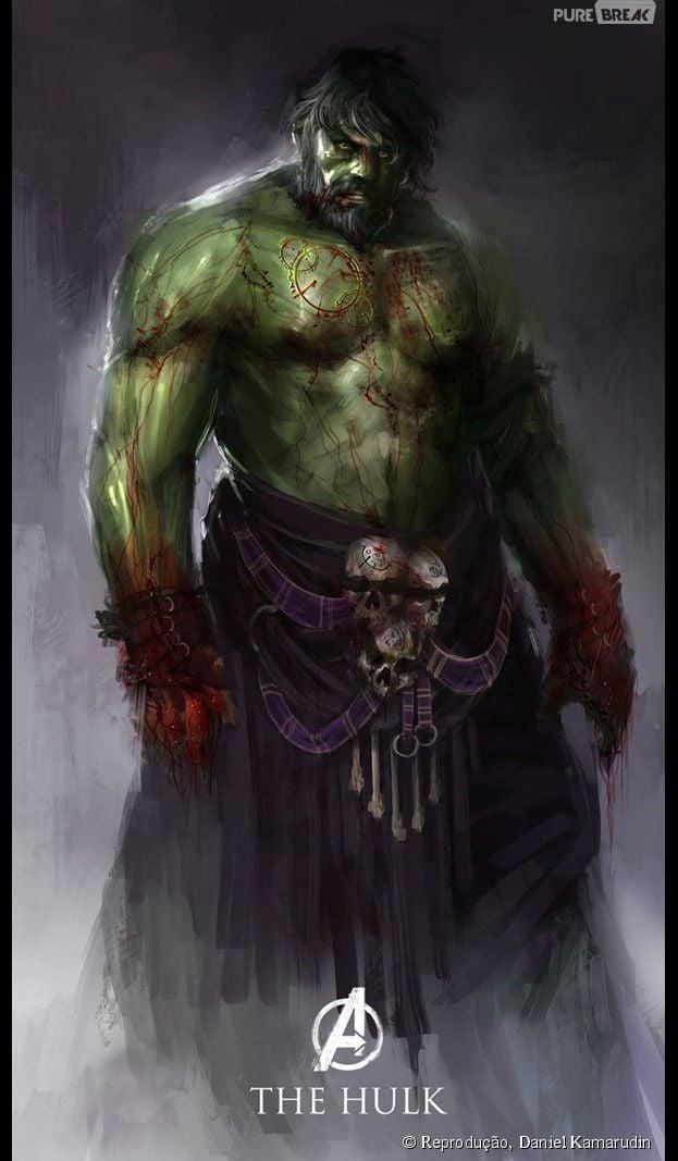 """Hulk, de """"Os Vingadores 2: A Era de Ultron"""", ganhou barba e uma roupa mais na moda"""