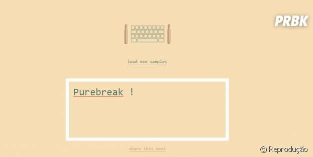 Typedrummer: brinque com o seu teclado escrevendo vários nomes e tenha diferentes batidas