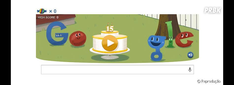 Doodle de Aniversário tem joguinho com doces!