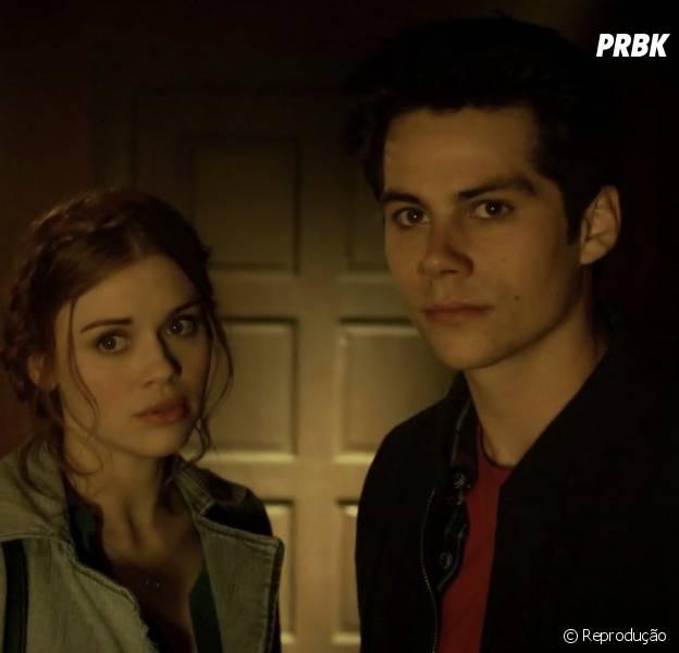 "Em ""Teen Wolf"", Lydia (Holland Roden) e Stiles (Dylan O'Brien) vão ter vários momentos juntos"