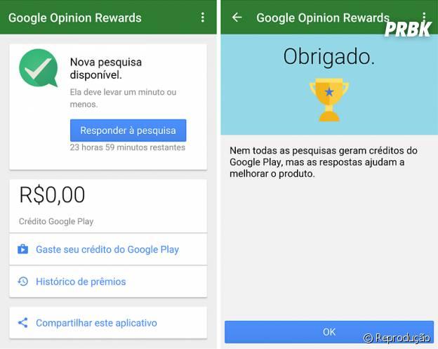 O aplicativo Google Opinion Rewards finalmente chegou ao Brasil na última semana