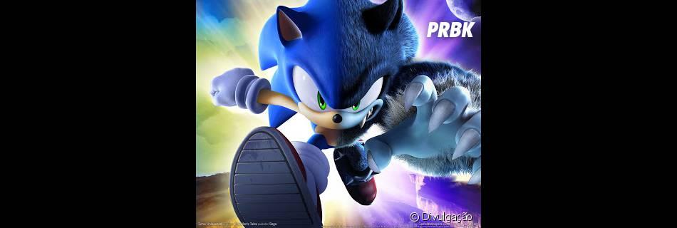 De noite, Sonic  adquire aparência de uma espécie de lobo-ouriço. Será que vão usar isso no filme?