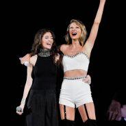 "Taylor Swift canta ""Royals"" com Lorde e fica presa em andaime durante show!"