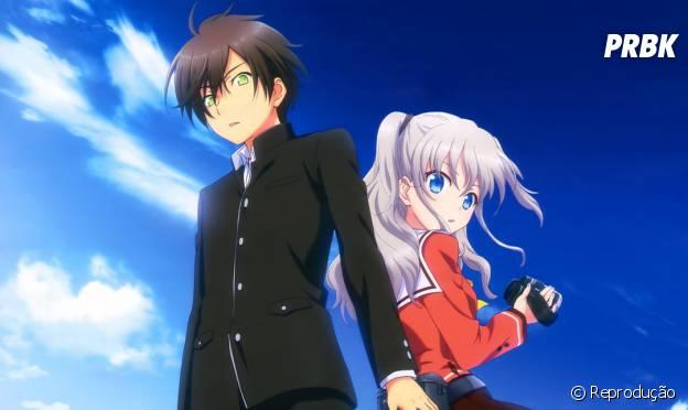 "Nao e Yuun, os protagonistas do anime ""Charlotte"""