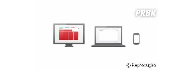 Ao fazer login no navegador da Google é possível visualizar em qualquer device as abas abertar no Chrome