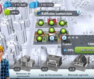 """""""SimCity Buildit"""", da EA Games, ganha super nova atualização para os edifícios comerciais"""