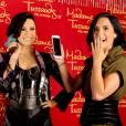 A felicidade de Demi Lovato ao se depara com sua estátua no museu Madame Tussauds