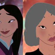 Princesas da Disney mais velhas? Veja como elas ficariam se isso acontecesse!