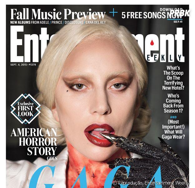 """Saiu a primeira foto de Lady Gaga vestida como Elizabeth, seu papel em """"American Horror Story: Hotel""""!"""