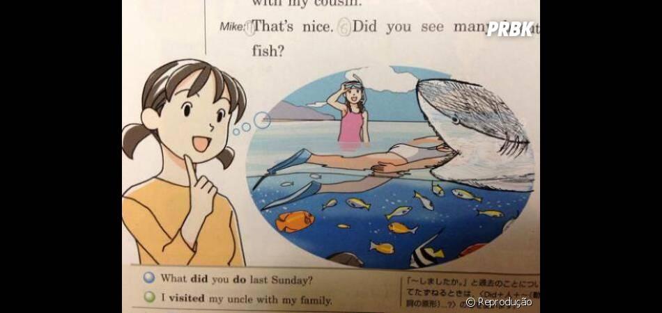 O que deve ser pior: um ataque de tubarão ou uma aula insuportável?