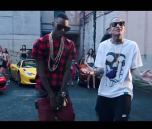 """Soulja Boy e MC Guime no clipe da música """"Brazil We Flexing"""""""