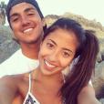 Gabriel Medina e Tayna Hanada em um momento fofo